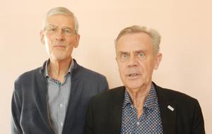 Lars-Åke Carlsson, från SPF:s förbundsstyrelse (till vänster), och Anders Granbom, ordförande i SPF Jämtland, deltog vid årsmötet. Foto: Sven Adolfsson