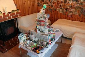 En sådan här skapelse kreerar Teresa Janus varje jul.