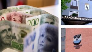 Härnösands kommun lurades på 257 383 kronor och Örnsköldsvik på 265 304 kronor.