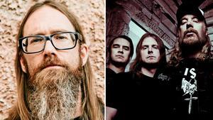 Jonas Stålhammar till vänster, medlem i världskända death metal-bandet At the Gates. Bild: Martin Bohm/Pressbild
