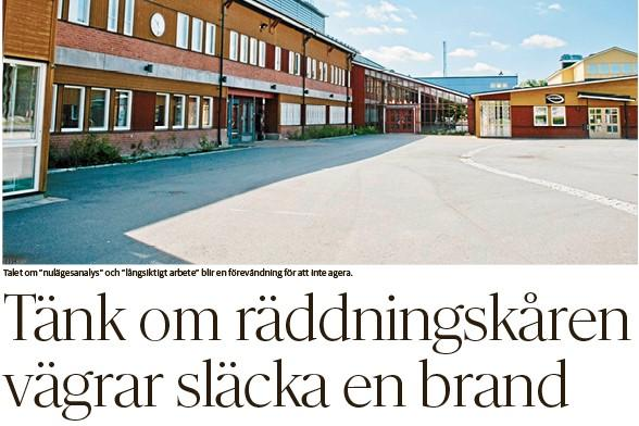 Kommunstyrelsens ordförande i Örebro Kenneth Nilsson svarar på Lars Strömans ledare om Vivallaskolan.