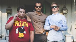 Det klantiga grabbgänget med Birger, Patrik och Fredrik dras in i en spiral av brott utan att de egentligen inte har gjort något fel. Pressbild. Foto: Nordisk film