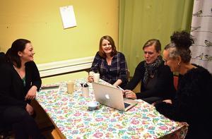 Falu Ungdomsjour, med Josefin Österslund, Molina Skansgård, Elin Norrgård, Ulrika Vargtand, är redo att kicka igång verksamheten i Falun.