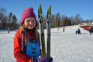 Astrid Cardell, 8 år, var belåten med dagens bravader.