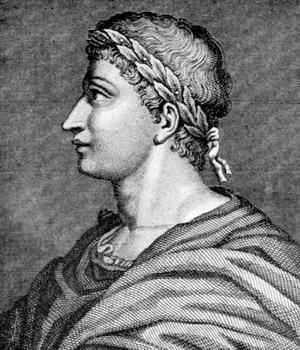 Ovidius. Illustration av Auréola.
