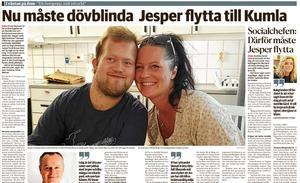 NA berättade den 11 februari om Kumla kommuns planer på att flytta dövblinda Jesper från sitt nuvarande boende till ett boende i hemkommunen Kumla.