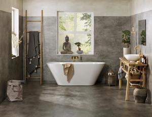 De senaste decennierna har badrummet blivit allt mer personligt och lyxigt. Många vill sätta sin prägel och visar stolt upp sin plats för avkoppling och återhämtning.Foto: Karl Anderson/Nordiska museet