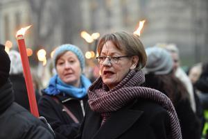 Gudrun Schyman blir unik i svensk politik om hon lyckas föra in Feministiskt initiativ i Riksdagen. Bild: TT