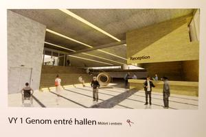 I samtliga sju förslag från arkitektstudenterna har huvudentrén flyttats. Här är ett exempel.