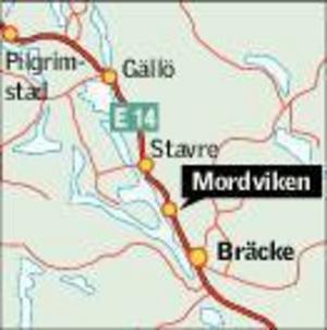 Trafikolyckan inträffade i Mordviken på måndagseftermiddagen. Karta: Kjell Nilsson-Mäki