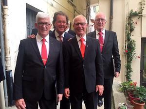 Leif Svensson, Carl-Lennart Gustavsson, Bengt Olerud samt Jan-Erik Normann. Foto: Privat