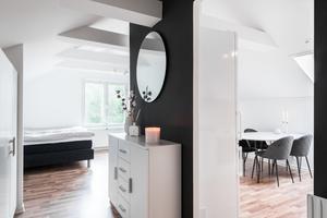Lägenheten är på 38 kvadratmeter i ett hus som är byggt 1947. Foto: Svensk Fastighetsförmedling