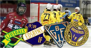Edsbyn, Bollnäs, Broberg och Ljusdal gör upp om DM-titeln.