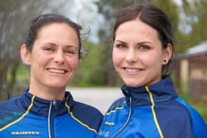 Stina Nordström med sin mamma Josefine inför deras deltagande i Läderloppet 2015. Foto: Leif Lundberg