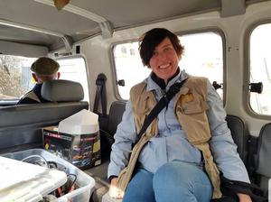 Följeslagaren Maria Lundberg från Järved i Hebron. Foto: Privat