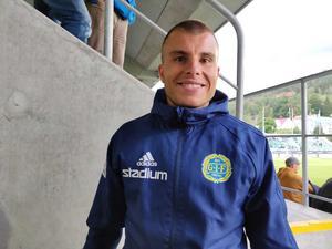 Pol Roigé på plats på matchen mot Hammarby. Han förväntas bli presenteras inom kort.
