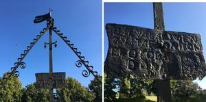 Swen Gustafssons gravvård. Swen var son till Gustav Svensson, brorson till Abraham och sonson till Sven Persson.