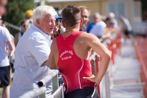 Stefan Tärnhuvud berättade innan tävlingen att det var kul att springa på hemmaplan.