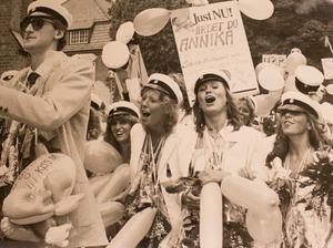 Studenten 1982. Foto: Margareta Andersson