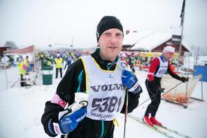 Fredrik Wiklund från Rättvik var trött men hade siktet inställt på Mora.