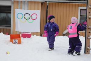Om nu ingen visste det så pågår det ett OS vid Stensvedens förskola i Ludvika, också.