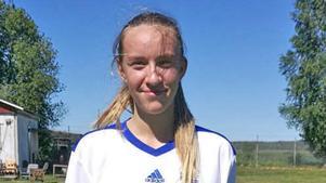 Stina Andersson i Hofors tar sig in på listan tack vare sina åtta mål den här säsongen.