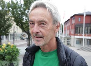 Calle Morgården (MP) räknar med att hans förslag om en återbruksstation på Humboberget förverkligas i höst.