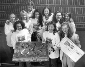 1992 arrangerade Riksbyggen en tävling för gymnasieeleverna i Östersund som gick ut på att planera ett bostadsområde. Klass S3b på Palmcrantz vann.