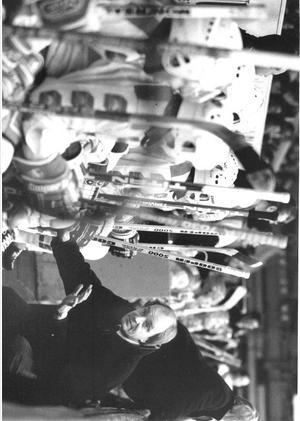 Timo Lahtinen när han var tränare i SSK på 80-talet. Foto: Roland Thunholm