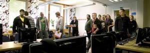 Första dagen i klassrummet där blivande nätverkstekniker under två år ska utbildas på Hälsinglands första yrkeshögskola.