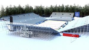 Skissen av Villa Långbers arena, som ska rymma 20000 personer.