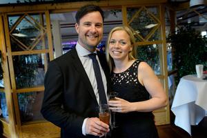 Sebastian och Kristina Nord såg fram mot en spännande kväll.