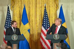 Löfven och Trump. Foto Henrik Montgomery / TT