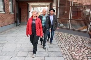 Birgitta Klahr, Per Gilén och Jan-Olof-Montelius ser fram emot årets Dalkarlsvandring. De har förberett sedan förra gången 2016.