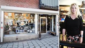 Efter dryga två år stängde Kerstin Håkansson sin butik Kerstins hem.  Bilden är tagen 2016 när hon öppnade affären.