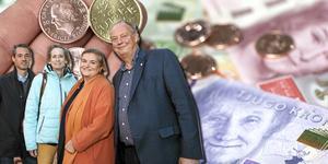 Nynäshamnsalliansen, med Daniel Adborn (L), Maria Gard Günster (C), Antonella Pirrone (KD) och Harry Bouveng (M), tog över rodret i Nynäshamn efter valet 2018. Foto: Kristina Laitinen/NP, och Fredrik Sandberg/TT