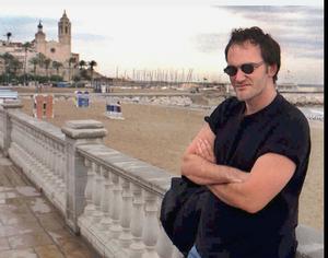 Den hyllade unge filmskaparen Quentin Tarantino 33 år gammal 1996. Foto: AP/Toni Albir/EFE