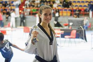 Isabell Laloknam kammade hem ett brons under den historiska SM-tävlingen i Västerås.