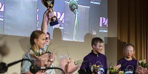 Vibackeskolan 5B från Alnö vann över Domsjöskolan 5A från Domsjö.