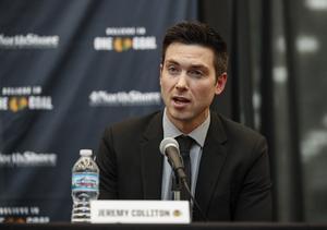 Jeremy Colliton. Foto: Kamil Krzaczynski/AP/TT