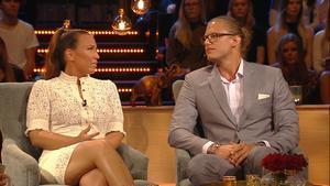 De ses för första gången sedan uppbrottet i TV4: s studio. Fint att ses men sorgligt, säger Felix. Foto: Tv 4.