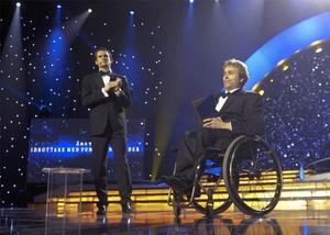 Handikappskytten Jonas Jacobsson blev årets idrottare med funktionshinder på idrottsgalan 2009 i Globen Arena i Stockholm på måndagskvällen.
