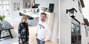 Utvändigt ser Karolina och Marcus Hårds hus ut att kunna ha mer än hundra år på nacken. Men invändigt är det öppet, ljust och modernt.