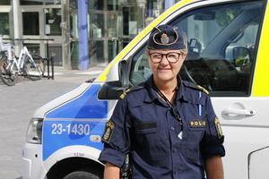 Mona Olofsson, operativ samordnare på polisen