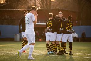 Sebastian Larsson gjorde 1–0 redan efter fyra minuter. Foto: Jesper Zerman / BILDBYRÅN