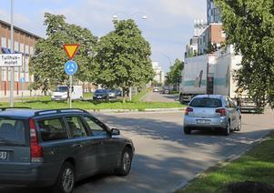 Hur mycket tung trafik på Kungsängsgatan?