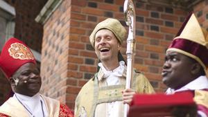 Mikael Mogren, biskop för Västerås stift, kommer i dag tisdag besöka Norberg. Bilden är från när Mikael Mogren vigdes till biskop i Uppsala domkyrka.
