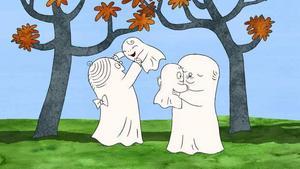 """Fint. """"Lilla spöket Laban""""-filmerna är tecknade av den legendariske animatören Per Åhlin (som tecknat """"Karl-Bertil Jonssons julafton"""")."""
