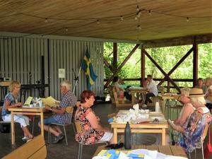 Dansbanan på Ådalsbyn passade perfekt till lunch med distans.