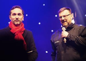 Radioprofilen Roger Nordin var konferencier och intervjuade Matakutens grundare Lasse Wennman som sedan höll i den formella invigningen.
